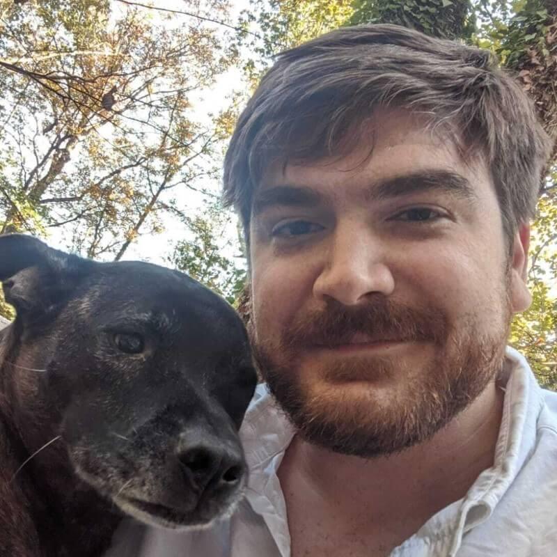 Dr. Andrew Prudhom und sein Hund