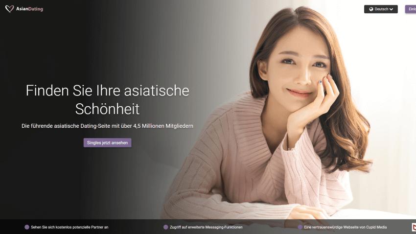 Asian Dating Webseite zeigt asiatische Single Schönheit