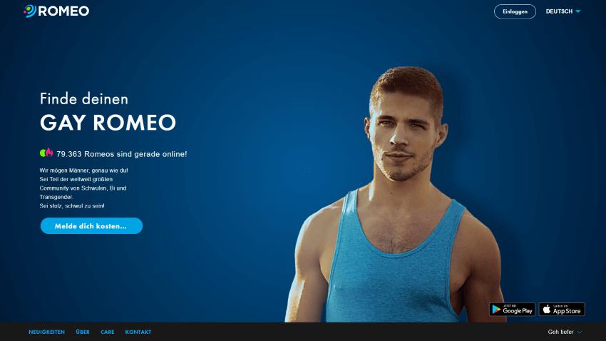 PlanetRomeo Homepage, Finde deinen Gay Romeo