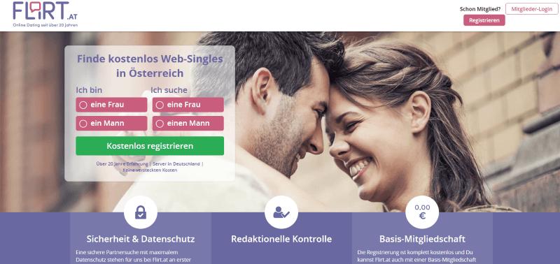 Flirt Startseite zum Anmelden, Singles auf Flirt.at lächeln glücklich
