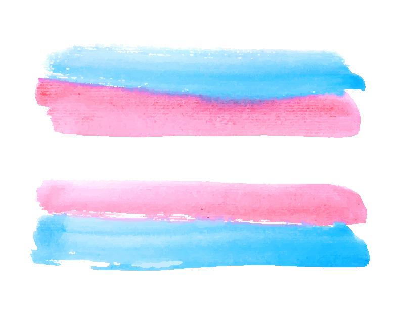Transflagge in Aquarell