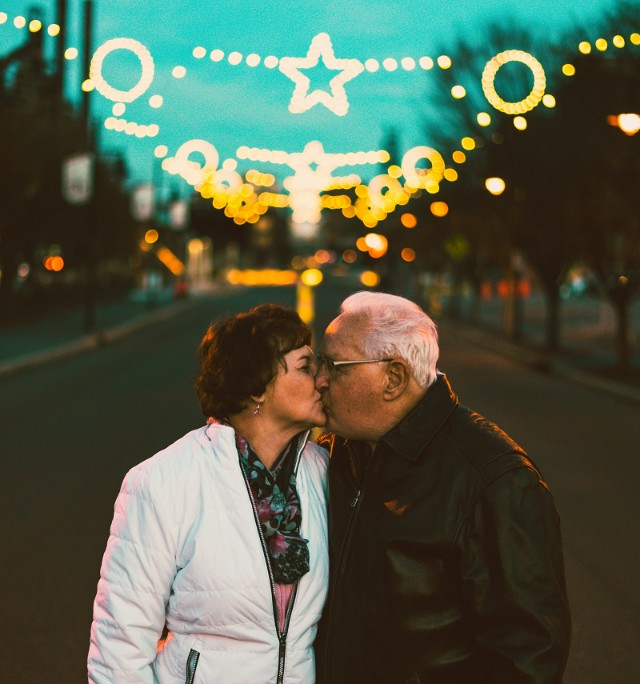Älteres Paar auf einem Holidate
