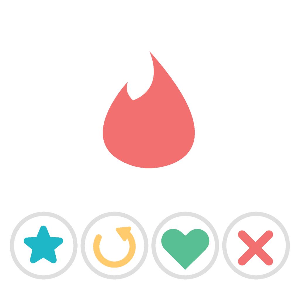 Grafik Tinder-Symbole