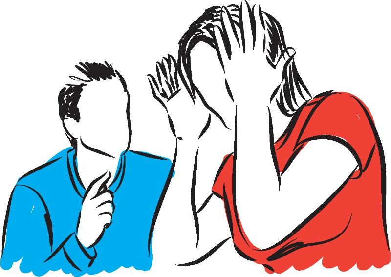Abbildung eines streitenden Paares