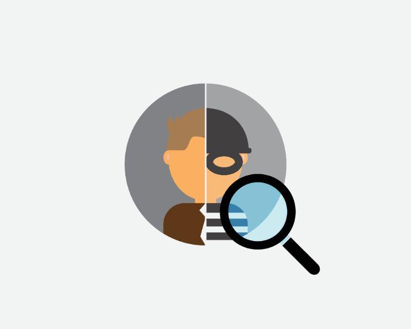 Illustration der Identitätsprüfung einer Person