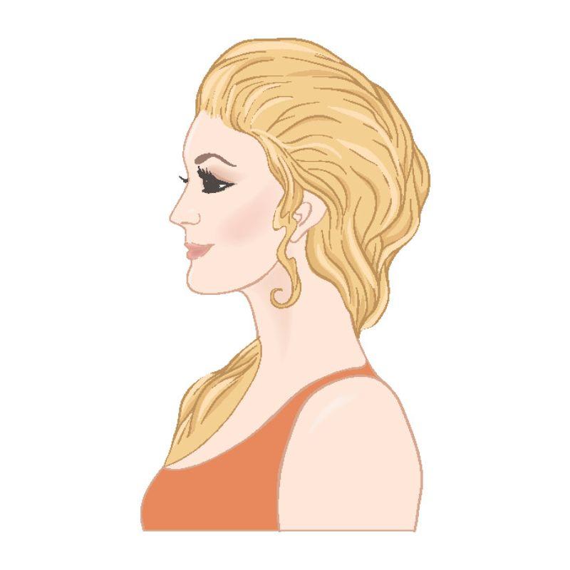 Illustration einer älteren blonden Frau