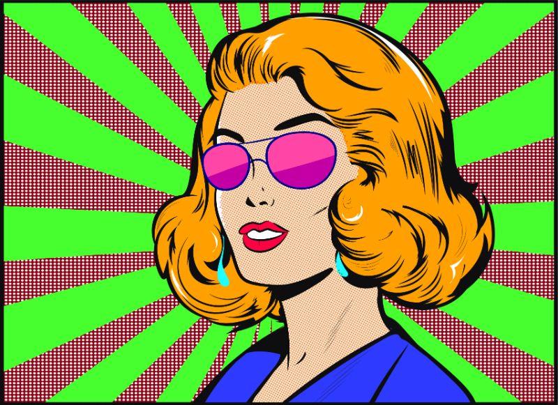 Illustration einer Frau im Comic-Stil