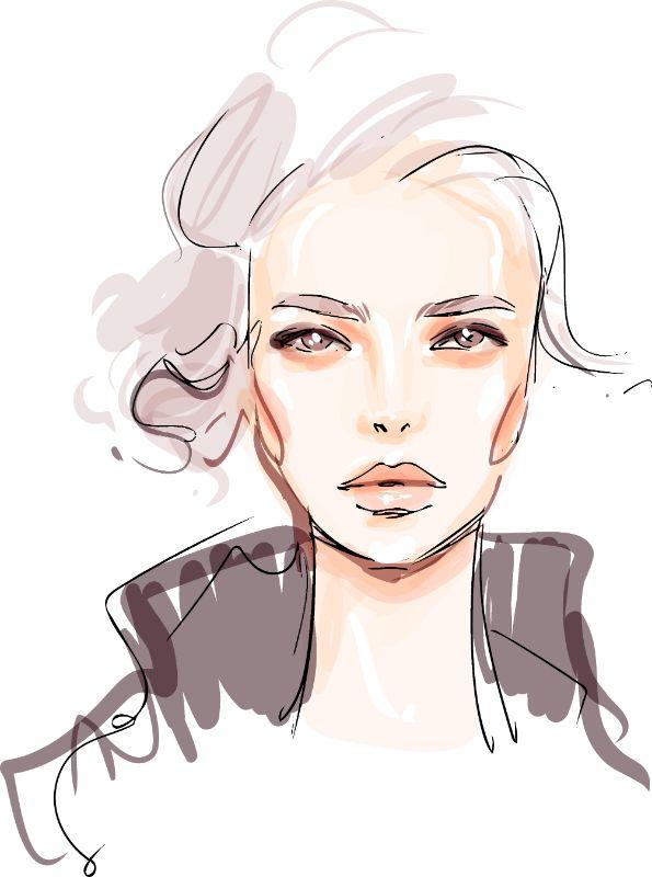 Illustration einer reifen Frau