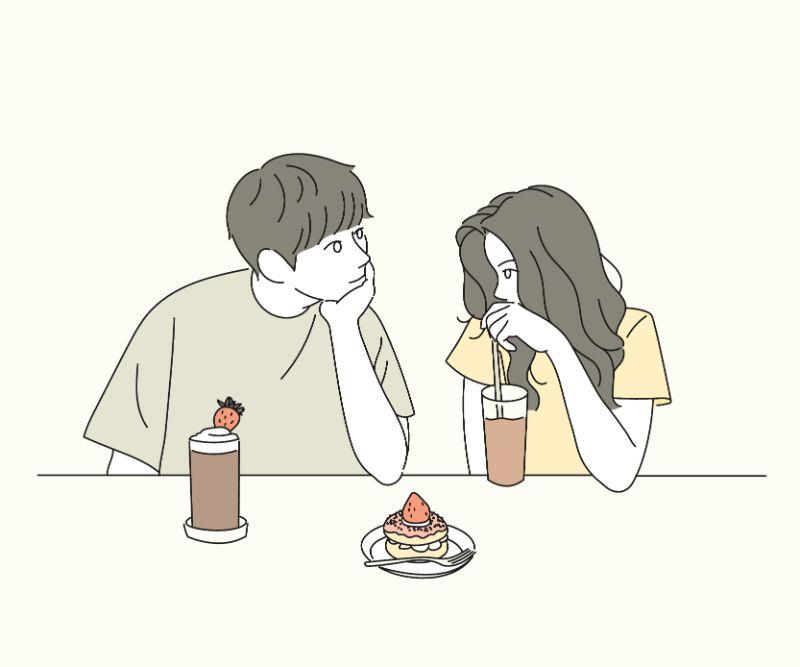 Illustration eines ersten Dates